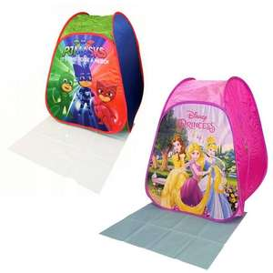 Disney Princess or PJ Masks Pop Up Tent with Play Mat - £9.99 Each Delivered (UK Mainland) @ BargainMax