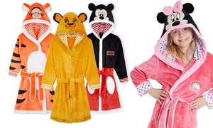 Officially licenced Disney hooded dressing gowns for kids for £14.98 delivered @ Groupon