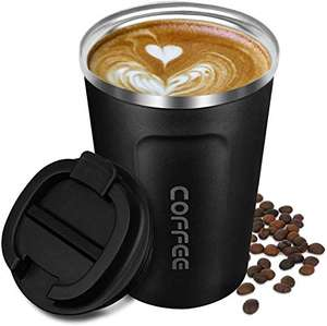 Coffee Cup Insulated, Reusable Travel Mug Double Walled Vacuum Stainless Steel £7.99 Prime (+£4.49 NP) Sold by C&Y Official and FBA