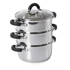 Tower 3 Tier Steamer 18cm-Stainless Steel - £15.99 (Prime) + £4.49 (non Prime) at Amazon