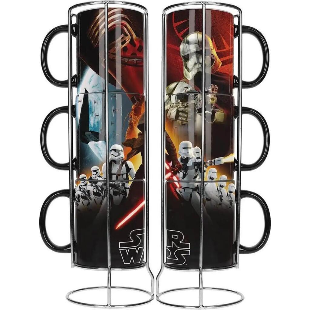 Star Wars Stackable Ceramic Mugs 3 pack - £8.99 delivered with code @ Zavvi