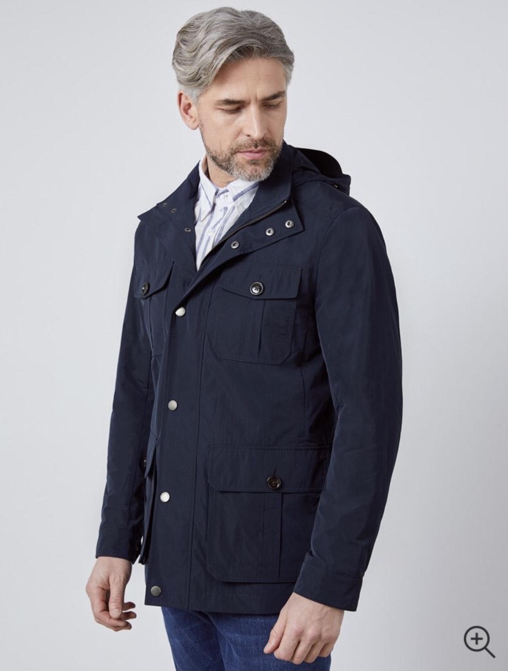 Men's Navy Field Jacket £83.95 delivered @ Hawes & Curtis