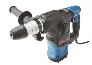 Ferrex 1500W SDS Rotary Hammer Drill (Carry Case + 10 Piece Accessories) 3M Cable 3 Year Guarantee - £39.99 Delivered @ Aldi