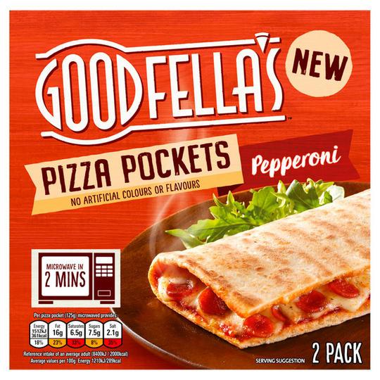 Goodfella's Pizza Pockets, 2 Pack, Pepperoni & Triple Cheese - £1 @ Asad