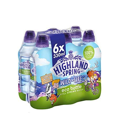 Highland Spring Kids Eco Bottle Still Water, 6 x 330 ml Sports Cap £1.25 prime / £5.74 nonprime at Amazon