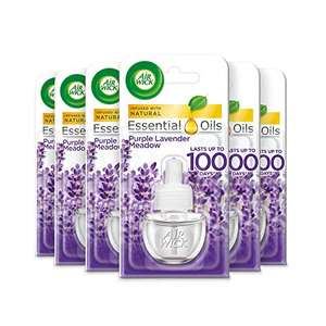 6 x Air Wick Electrical Plug In Air Freshener Refill Lavender 17ml £11.40 prime/ £15.89 nonPrime at Amazon
