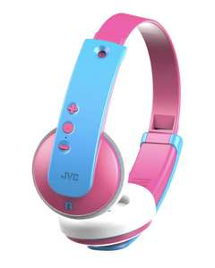 JVC HA-KD9BT-P-E Wireless Bluetooth Kids Headphones - Pink & Blue - £4.97 delivered from Currys