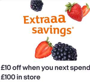 £10 off £100 spend at Sainsbury's in the Nectar app (invite only)