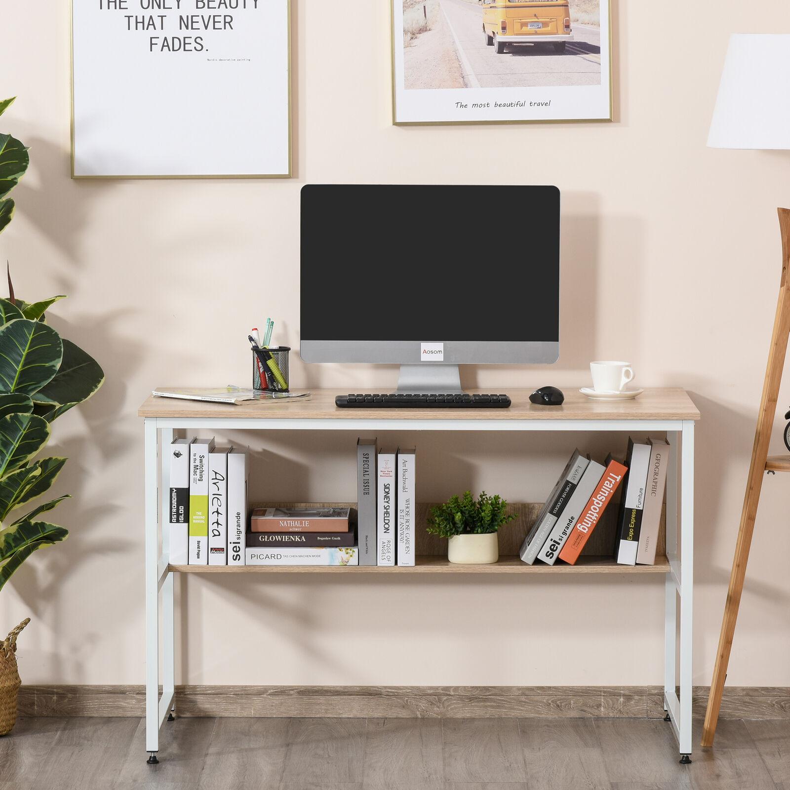 HOMCOM Study Metal Framed Desk - White Frame Model £41.39 / Black Frame Model £43.19 Using Code @ eBay / mhstarukltd