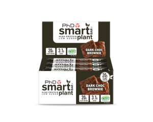 3 x 12 Smart Bar Plant - High Protein, Low Sugar Vegan Protein Bars (36 Total) £29.22 (£9.74 per box) Delivered @ PhD Nutrition / eBay