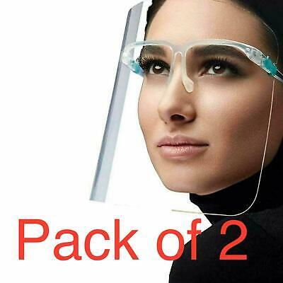 2 Full Face Shield Visor Glasses Guard Protection Safety Covering Clear Anti Fog £3.25 delivered at bargainhuntltd eBay