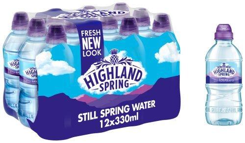 Highland Spring Still Spring Water Handy Bottles, 12 x 330ml £1.99 +(£4.49 non-prime) @ Amazon