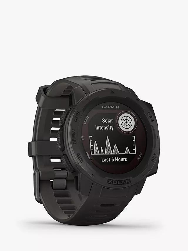 Garmin Instinct Solar, Solar-Powered Fitness Smart Watch, Graphite £279 @ John Lewis & Partners