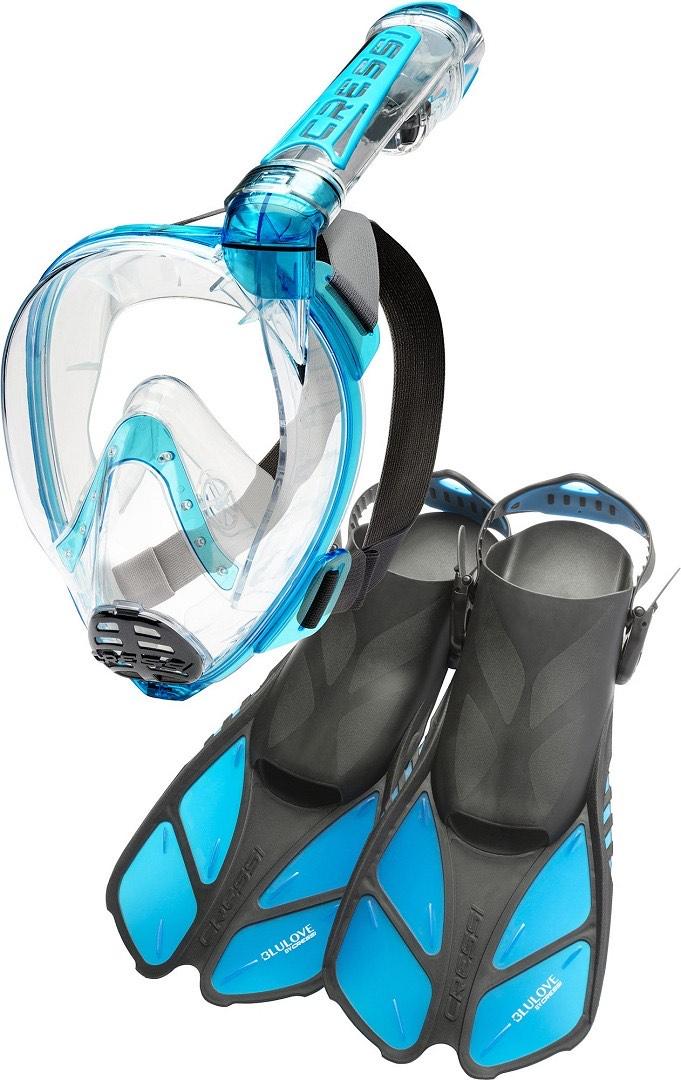 Cressi Duke Snorkel Mask & Cressi Bluelove Flippers £17.01 (+£4.49 non-prime) @ Amazon