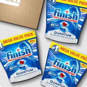 240 Quantum finish dishwasher tablets only £15.30 (with code) @ Finish