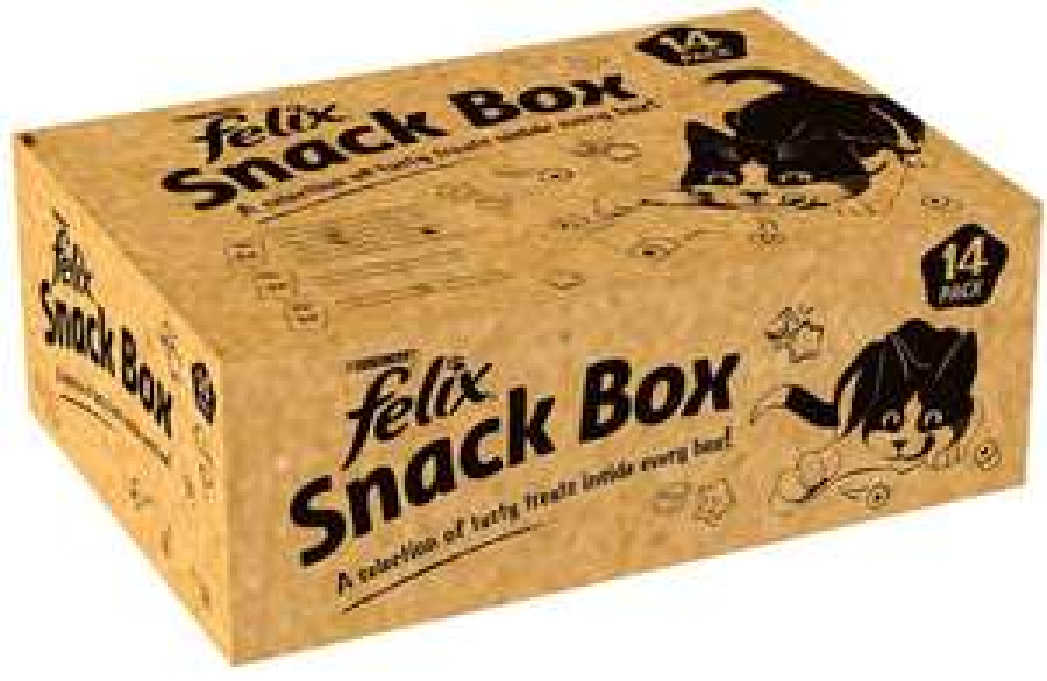 Felix Snack Box Cat Treat 765g (Pack of 14) - £8.71 @ Amazon (+£4.49 Non-Prime / £6.53 S&S)
