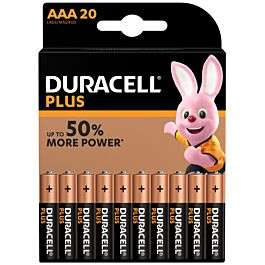 Duracell Plus Power AAA / AA Batteries - 20 Pack - £9.99 (Free click and collect, £4.99 Delivery) @ Robert Dyas