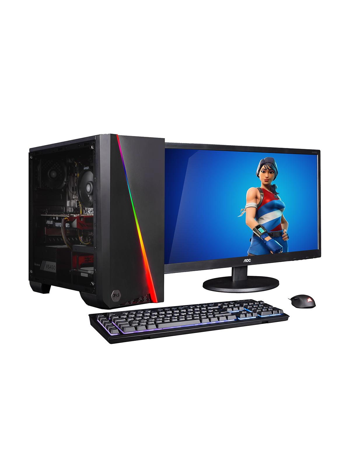 """3XS Gaming Bundle - Ryzen 5, GTX 1660, AOC 24"""" Gaming Monitor, Corsair K55 Keyboard, Harpoon Mouse £650 @ ElekDirect"""