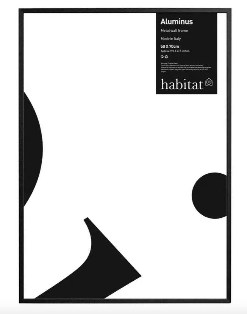 Habitat Aluminus Black Picture Frame (50 x 70) - £12 (Free Click & Collect / £3.95 delivery) @ Habitat