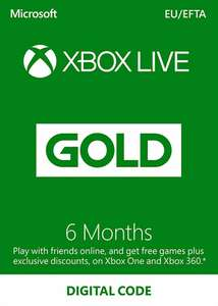 Xbox Live Gold 6 months Xbox Live Key Europe £21.27 @ PrepaidForge Eneba