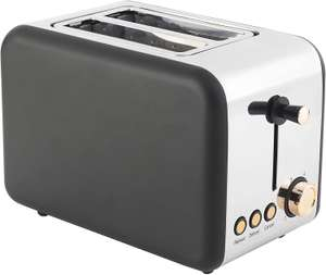 Salter, 850W, Rose Gold EK2652RG 2-Slice Toaster with Wide Slots 850 W Stainless Steel Edition - £16.37 + £4.49 NP @ Amazon