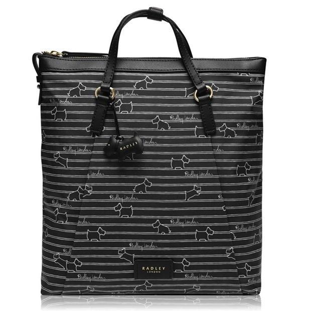 Radley Stripe Medium Zip Top Backpack £37.98 delivered @ House of Fraser
