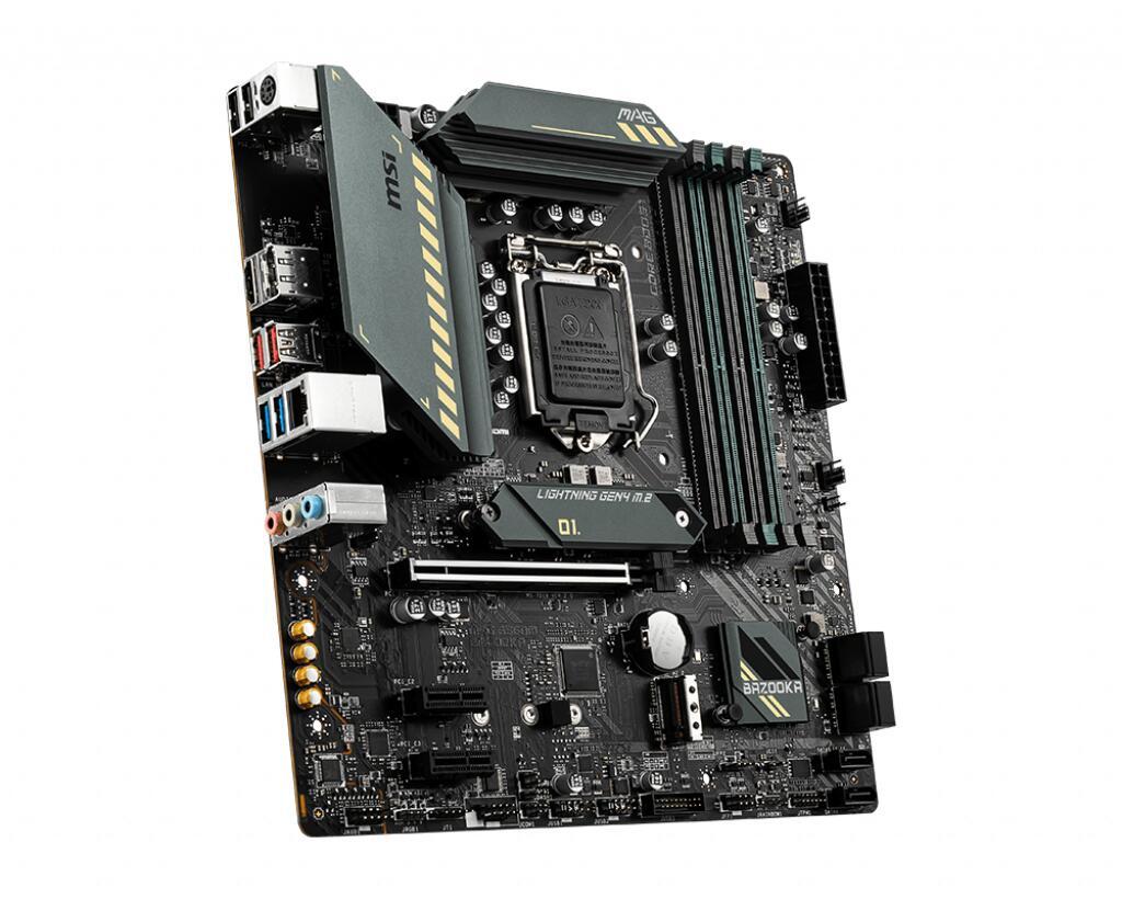 MSI MAG B560M BAZOOKA motherboard Intel B560 LGA 1200 micro ATX - £121.94 @ More Computers