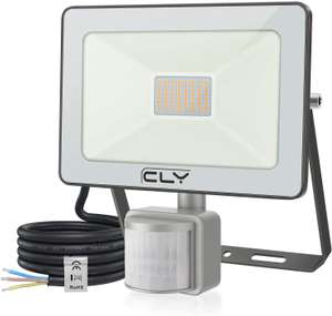 CLV 35W LED Floodlight, 3500 Lumen IP66 Waterproof Security Lights, 3000K Warm White Wall Light - £11 (+£4.49 NP) - Sold by CLY- tools / FBA