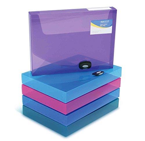 Rapesco Rigid Wallet / Box File - 40mm, A4, Assorted Color, 1 Piece - £3.73 @ Amazon Prime (+£4.49 Non prime)