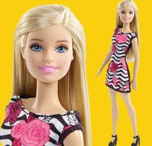 Free Barbie doll with any other Barbie purchase - e.g. Barbie Doll with Black & White Striped Dress £10 + £3.99 del at Hamleys