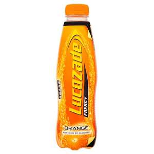 Lucozade drinks various flavours 900ml 79p at Tesco Broughton
