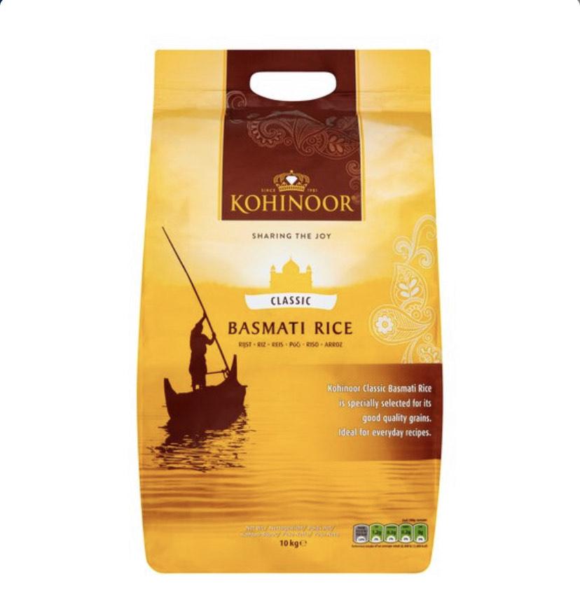 Kohinoor Gold Basmati Rice 10Kg - £12.50 (Clubcard Price) @ Tesco