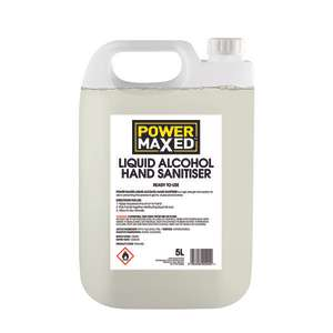 Power Maxed Hand Sanitiser (Liquid) 5L with Pump - £1.80 (Free click & collect) @ Eurocarparts