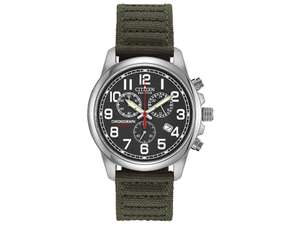 Citizen ECO-DRIVE AT0200-05A Green Strap Military Watch - W38133 £119 at F Hinds