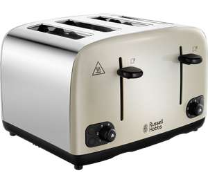 RUSSELL HOBBS Cavendish 4-Slice Toaster - Cream/Black/Red £21.99 / Kettle - Cream/Black/Red - £21.99 delivered @ Currys PC World