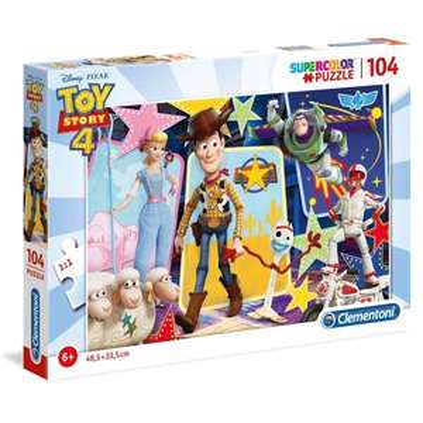 Clementoni Supercolor Toy Story 4 104 Piece Jigsaw Puzzle (Free C&C) @ Smyths Toys