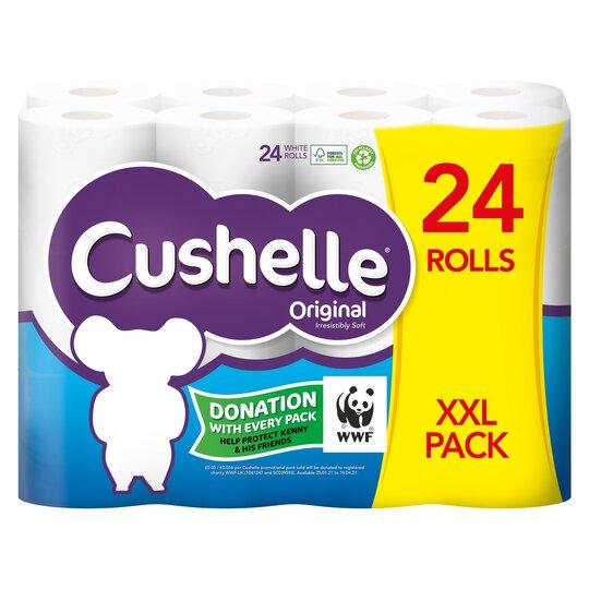 Cushelle 24 Roll White - £8 Clubcard Price (Minimum Fee / Delivery Fee Applies) @ Tesco