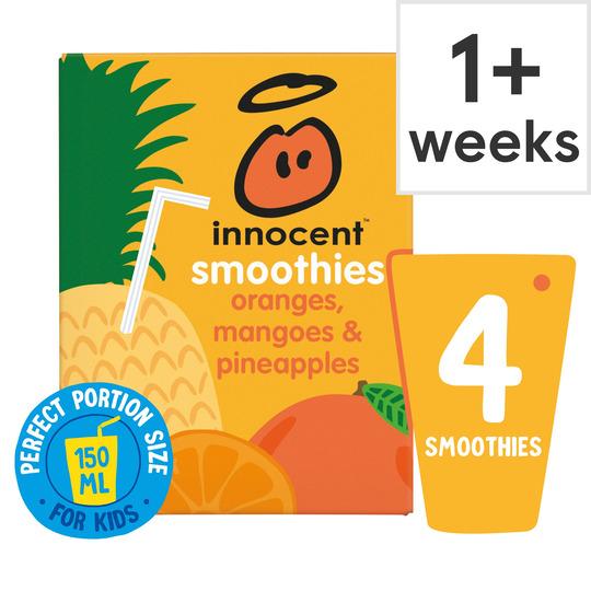 Innocent Kids Orange Mango & Pineapple 4X150ml - £1.50 with Clubcard @ Tesco