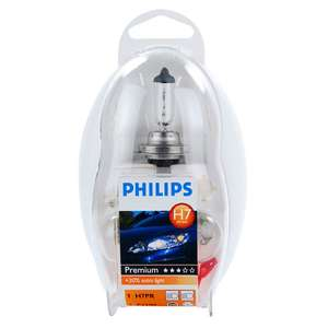 Philips H7 Spare Bulbs Kit Headlamp rear indicator & Fuse (Free Collection / £3.95 delivery) @ Euro Car Parts