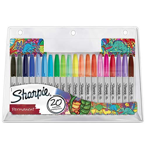 20 Sharpie Permanent Markers Exclusive Colour Assortment  Fine Point £7.57 Amazon Prime (+£2.99 non Prime)