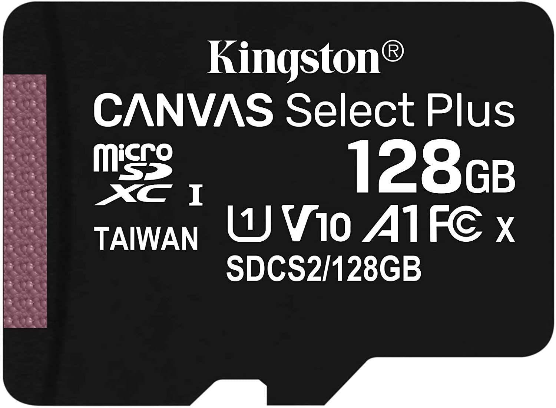 128GB Kingston Canvas Select Plus A1 microSDXC Card 100MB/s + lifetime warranty - £10.98 Prime /+£4.49 non Prime Delivered @ Amazon