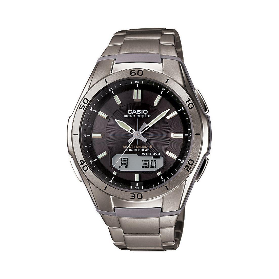 Casio Men's Radio Controlled solar powered Titanium Watch 100m WR £94 delivered @ H Samuel