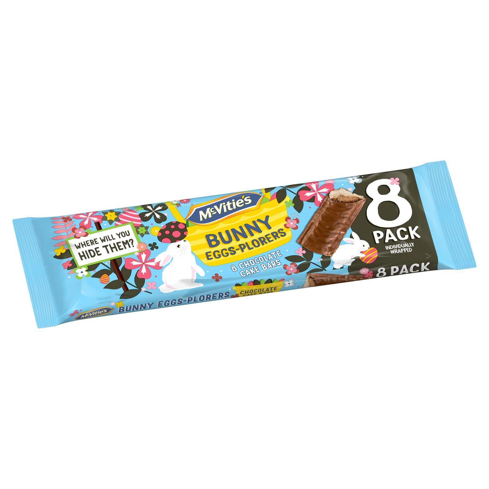 McVitie's Bunny Eggs-Plorers 8 Chocolate Cake Bars 39p instore at FarmFoods (Aylesbury)