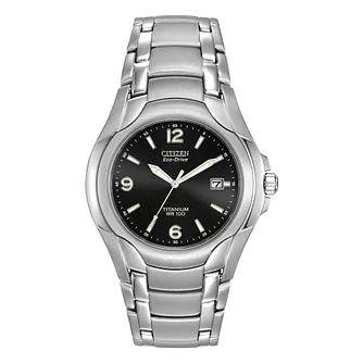 Citizen Eco-Drive Men's Titanium Bracelet Watch - £71.99 Via Student Beans With Unique Code @ H Samuel