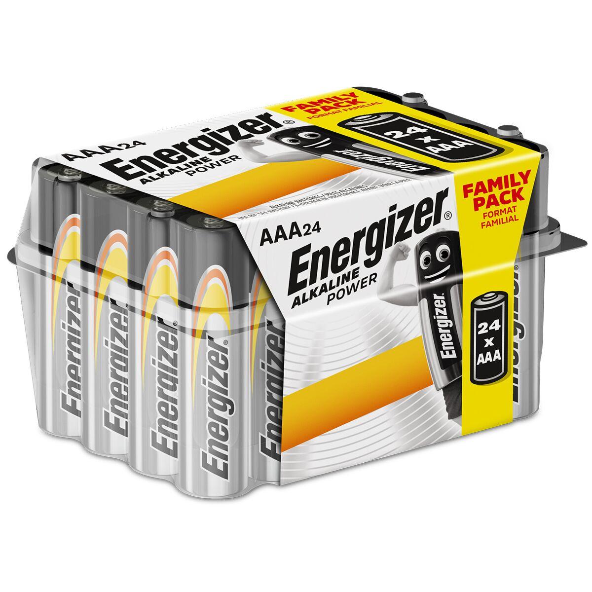 Energizer AAA Alkaline Power Batteries 24 Pack £7.99 & Robert Dyas