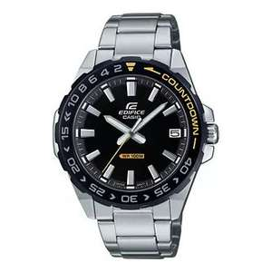 Casio Edifice Countdown Men's Stainless Steel Bracelet Watch - £39.99 + £1.99 Delivery (Via Student Beans) @ H Samuel