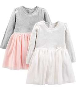 Girl's 2 pack long sleeve dress with tulle age 3 now £8.76 at Amazon Prime / £13.79 Non Prime