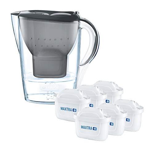 BRITA Marella water filter jug half year pack, includes 6 MAXTRA+ , Black - Fridge fit £28.31 @ Amazon