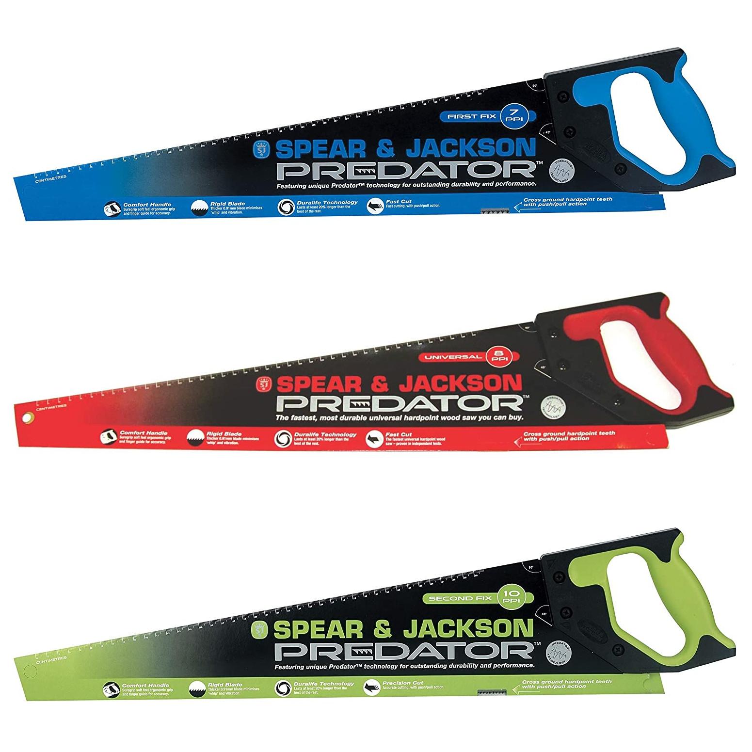 Spear & Jackson Predator Saws (7TPI / 8TPI / 10TPI) - 2 for £10 (Free click & collect / £5 Delivery) @ B&Q