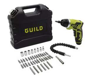 Guild Fast Charge Screwdriver & 45 Piece Accessories - 3.6V £25 @ Argos
